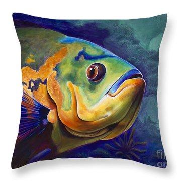 Enchanted Reef Throw Pillow by Scott Spillman