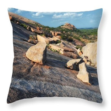 Enchanted Rock Texas Hill Country Natural Arrangement Of Sliding Boulders At Enchanted Rock Throw Pillow