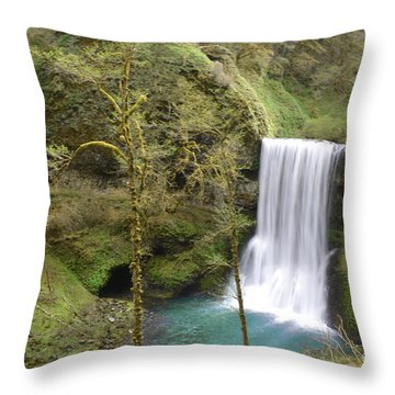 Enchanted Wilderness Waterfall Throw Pillow by Andrea Hazel Ihlefeld