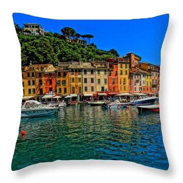 Enchanting Portofino In Ligure Italy II Throw Pillow by M Bleichner