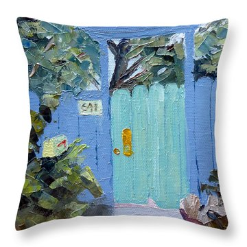 Encinitas Gate Throw Pillow