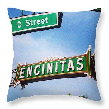 D Street Encinitas Throw Pillow