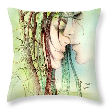 Encounter  From Love Angels Series Throw Pillow