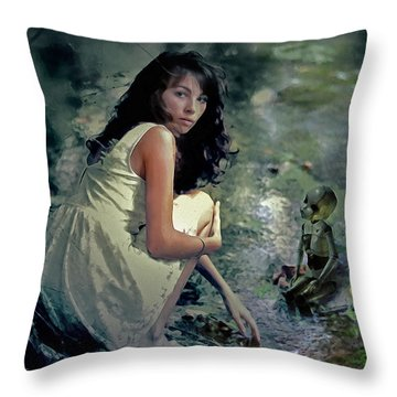 Throw Pillow featuring the digital art Encounter by Galen Valle