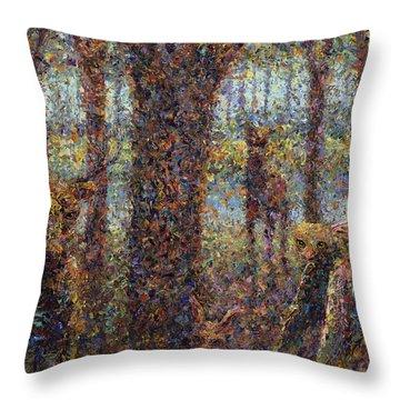 Encounter Throw Pillow by James W Johnson