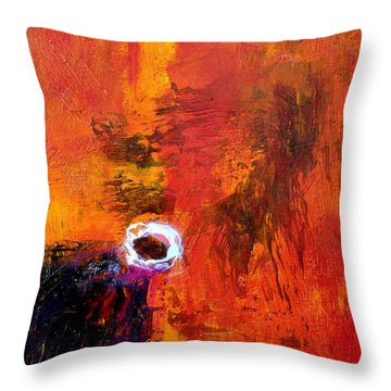 Throw Pillow featuring the painting Encounter by Jim Whalen