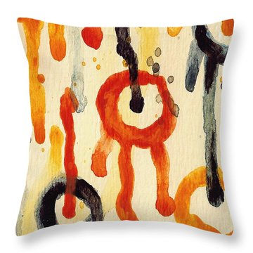 Encounters 2 Throw Pillow by Amy Vangsgard