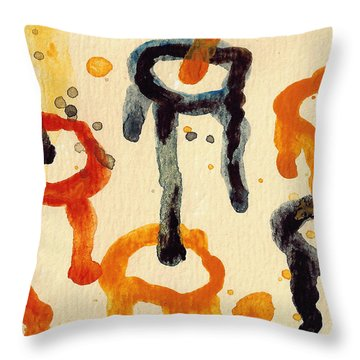 Encounters 4 Throw Pillow by Amy Vangsgard