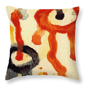 Encounters 6 Throw Pillow by Amy Vangsgard