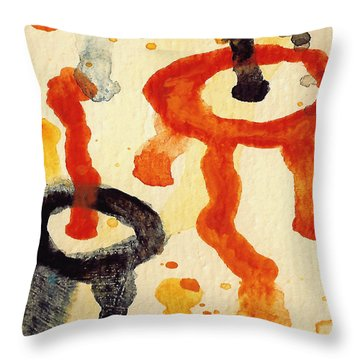 Encounters 8 Throw Pillow by Amy Vangsgard