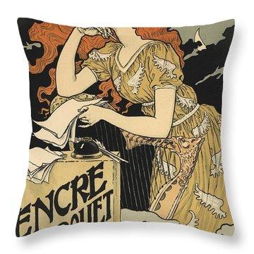 Encre L. Marquet Throw Pillow