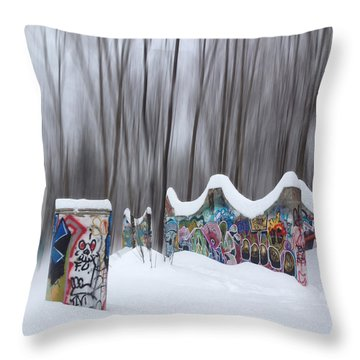Throw Pillow featuring the photograph Encroaching Urbanity by Wayne King