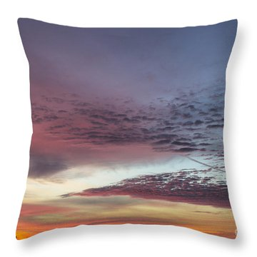 End Of 2012 Sunrise Throw Pillow
