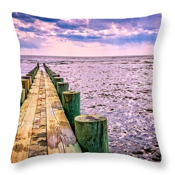End Of A Glorious Day Throw Pillow by Edward Fielding