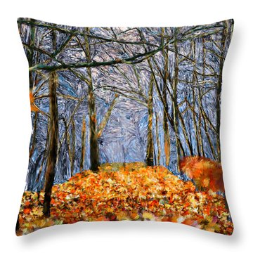 End Of Autumn Throw Pillow by Bruce Nutting