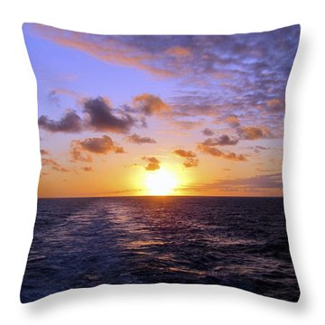 Hawaiian End Of Day Throw Pillow