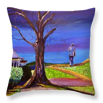 End Of Day Highway 98 Throw Pillow