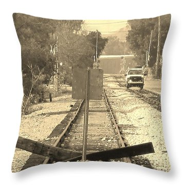 Throw Pillow featuring the photograph End Of One Line by John King