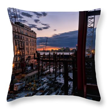End Of The Day Throw Pillow by Steve Sahm