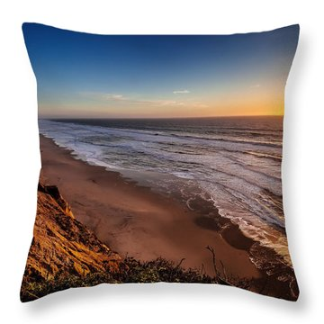 End Of The Day Throw Pillow by Steven Reed