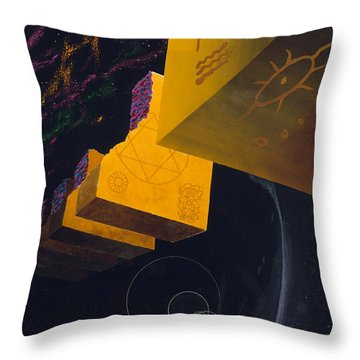 End Of The Journey To Find God Throw Pillow