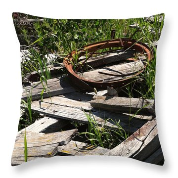 Throw Pillow featuring the photograph End Of The Line by Meghan at FireBonnet Art