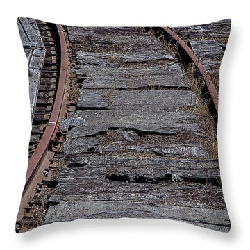 End Of The Line Throw Pillow by Garry Gay