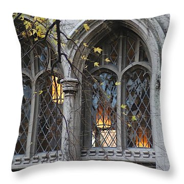 End Of The Mile Throw Pillow