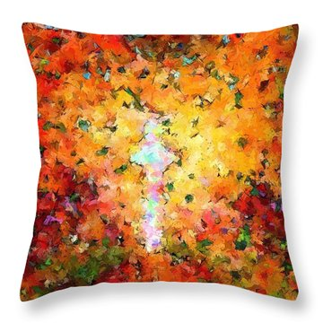 End Of The Road  Throw Pillow by Glenn McCarthy Art and Photography