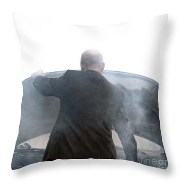 End Of The Trip Throw Pillow by Olivier Le Queinec