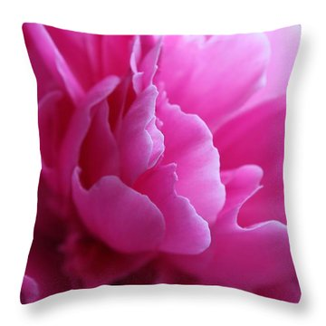End Of The World Pink Throw Pillow