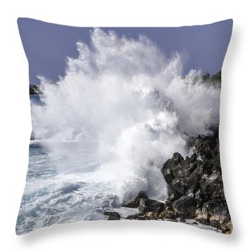 End Of The World Explosion Throw Pillow by Denise Bird