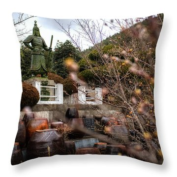 End Of Winter In Korea Throw Pillow