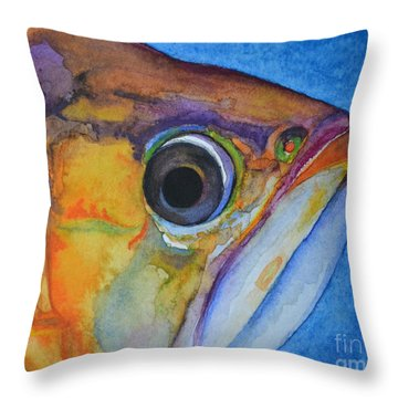 Endangered Eye IIi Throw Pillow by Suzette Kallen