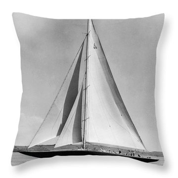 Endeavour II At Newport Throw Pillow