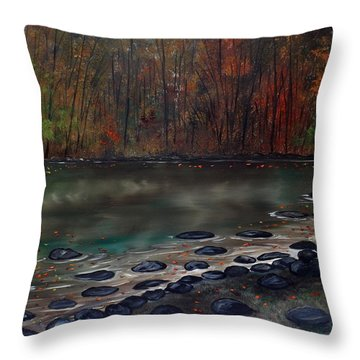 Ending Here Throw Pillow