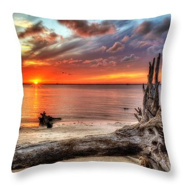Endings Throw Pillow by Greg and Chrystal Mimbs
