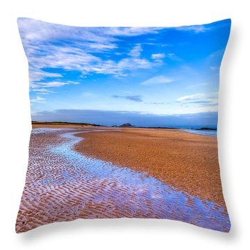 Throw Pillow featuring the photograph Endless Beach Sands - North Berwick Scottish Seaside by Mark E Tisdale