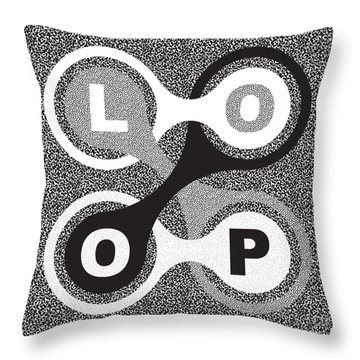 Endless Loop Throw Pillow