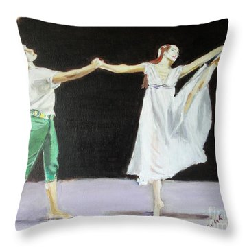 Throw Pillow featuring the painting Endless Love by Judy Kay