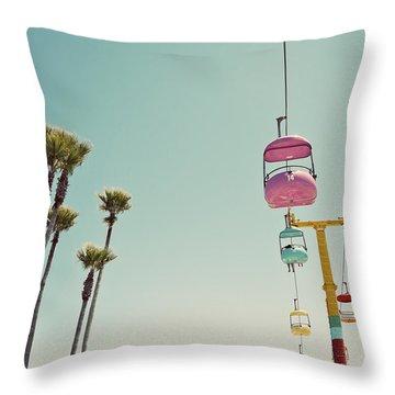 Endless Summer - Santa Cruz, California Throw Pillow