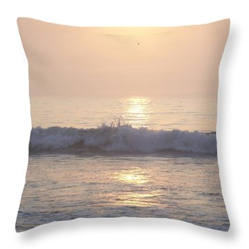 Hampton Beach Wave Ends With A Splash Throw Pillow
