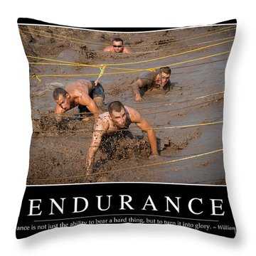 Endurance Inspirational Quote Throw Pillow by Stocktrek Images