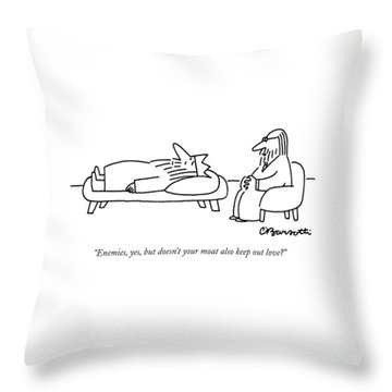 Enemies, Yes, But Doesn't Your Moat Also Keep Throw Pillow
