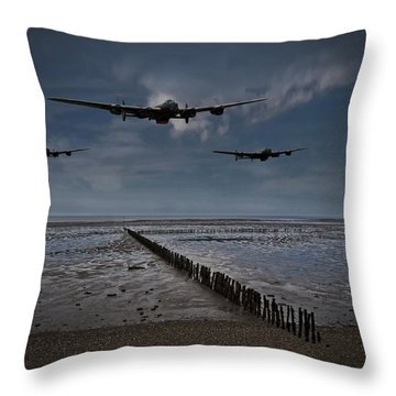 Enemy Coast Ahead Skipper Throw Pillow by Gary Eason