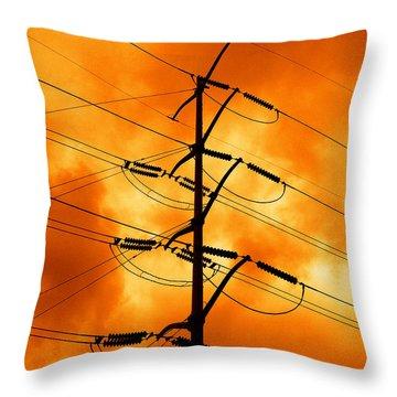 Energized Throw Pillow