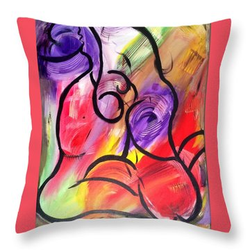 Energy In Motion Throw Pillow