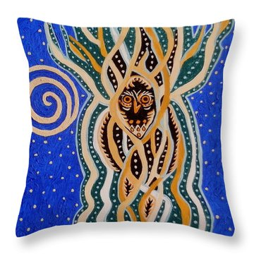 Energy Of The Night Throw Pillow
