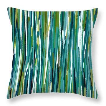 Energy Rises Throw Pillow by Lourry Legarde