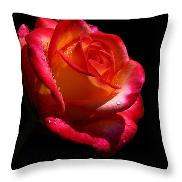 Throw Pillow featuring the photograph Enflamed by Doug Norkum